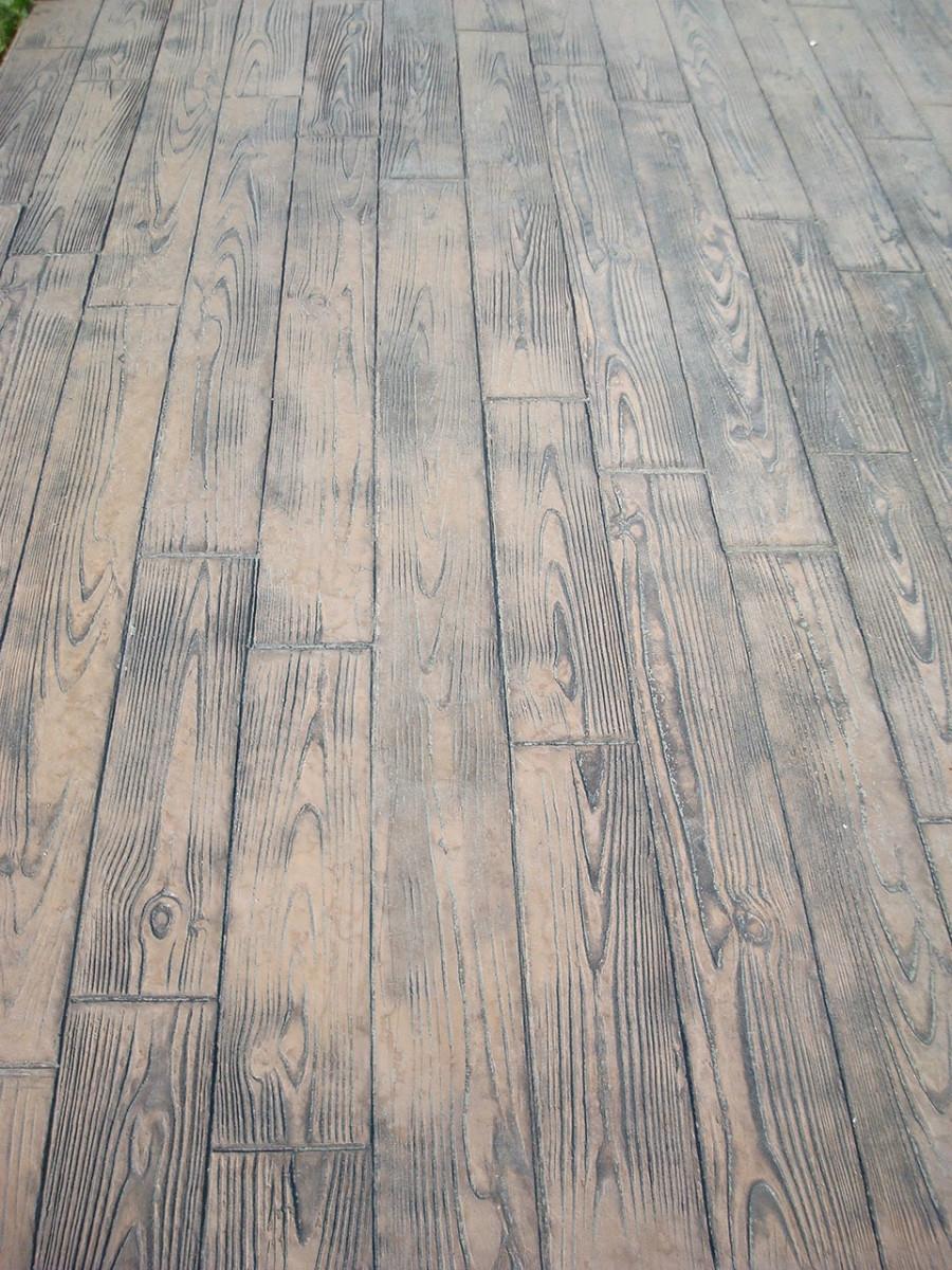 Galerie betons vue de pr s - Terrasse beton empreinte bois ...